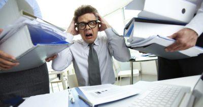 Shocked bookkeeper